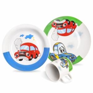 Dětská porcelánová souprava AUTO 3ks