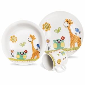 Dětská porcelánová souprava ŽIRAFA 3ks