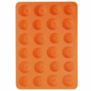 Forma silikonová na malé věnečky 24 ks oranžová