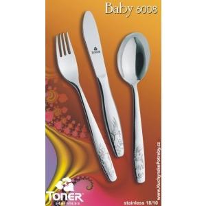 Toner dětský příbor 6008 BABY 3ks DBF