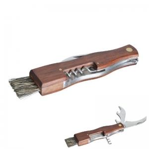 Houbařský nůž se štětcem, vývrtkou a otvírákem
