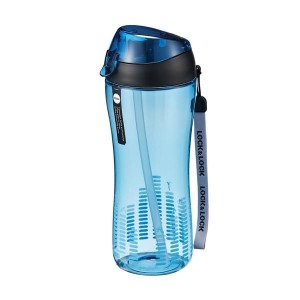 Lock&Lock Sportovní láhev 550 ml se silikonovým brčkem- modrá