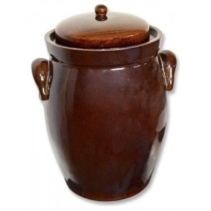 Keramika Krumvíř Zelák Buclák keramický hnědý 10l