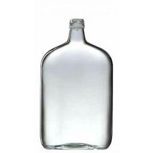 Láhev placatka skleněná 1 l